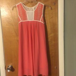 Francesca's peach mini sleeveless dress